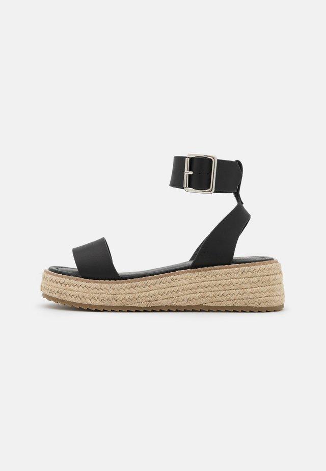 FABY - Korkeakorkoiset sandaalit - black