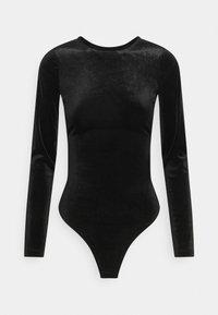 Gina Tricot - VELVET OPEN BACK - Long sleeved top - black - 4