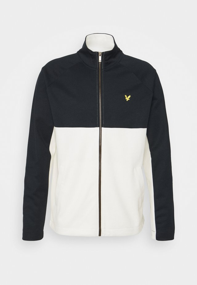 ARCHIVE TRICOT ZIP THROUGH RELAXED FIT - veste en sweat zippée - dark navy/vanilla ice