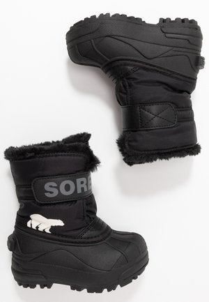 CHILDRENS - Winter boots - black/charcoal