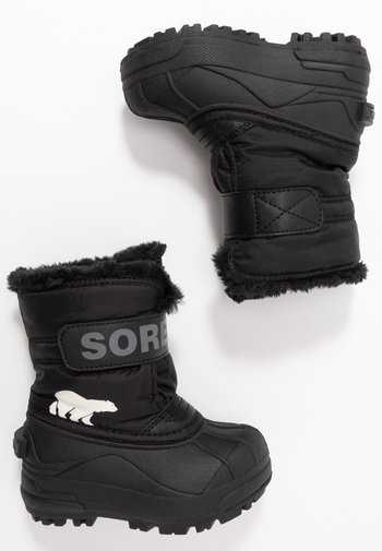 CHILDRENS UNISEX - Winter boots - black/charcoal