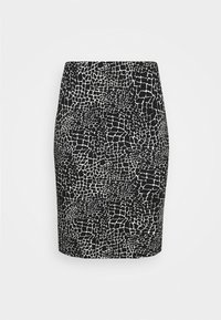 CAPSULE by Simply Be - MONO PRINT MIDI SKIRT - Pencil skirt - black/ivory - 5