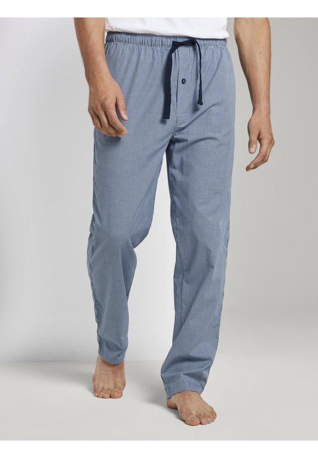 FEIN KARIERTE - Pyjamabroek - blue-medium-check