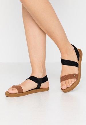 PARADISE - Sandals - tan/black