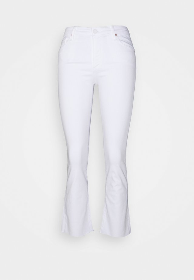 JODI CROP - Flared jeans - white