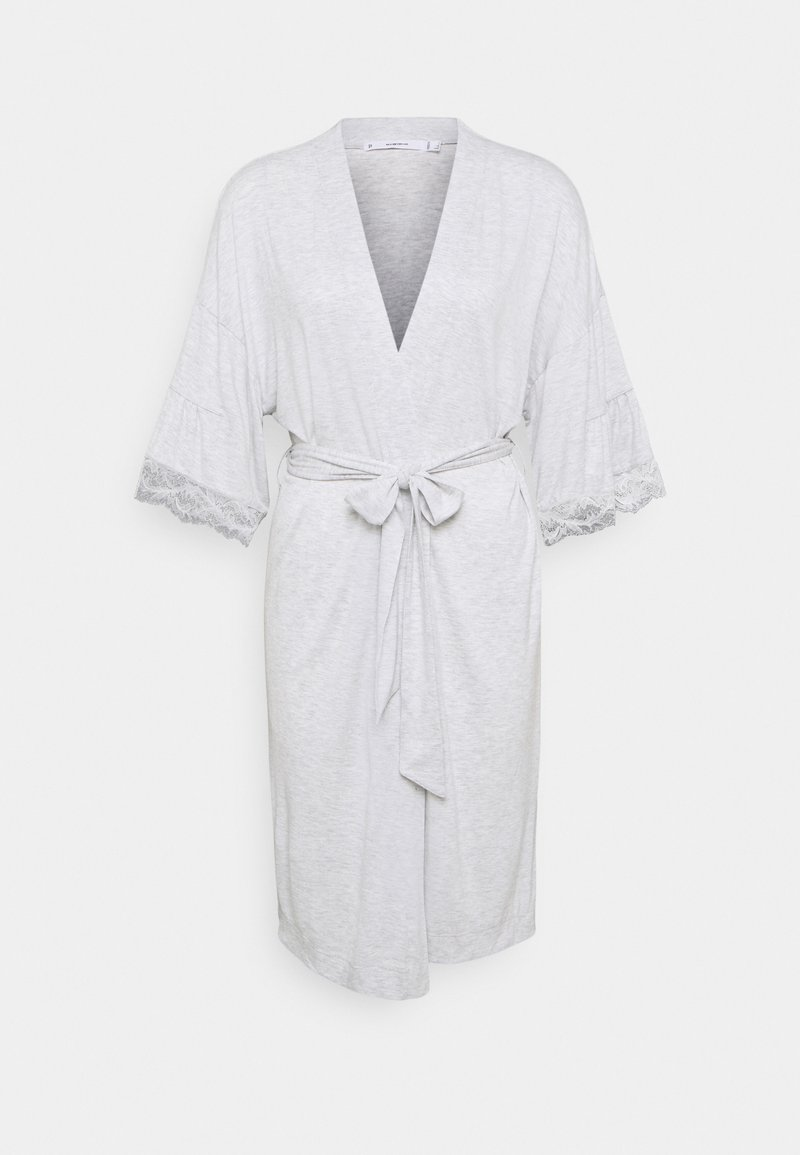 Women Secret - MEDIUM ROBE SOFT TOUCH  - Dressing gown - grey print
