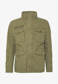 TOM TAILOR - WASHED FIELD JACKET - Summer jacket - olive night green - 3