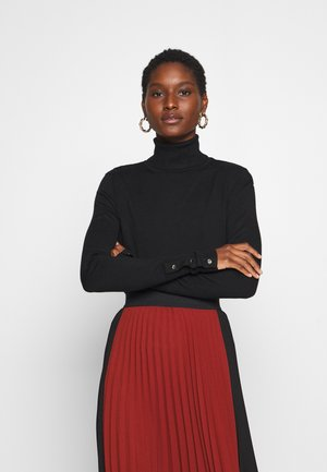 BASIC- BUTTON DETAIL JUMPER - Neule - black