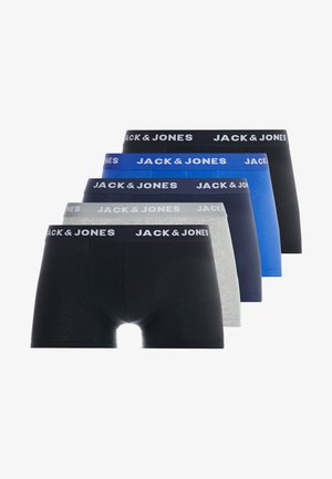 JACBASIC PLAIN TRUNKS 5 PACK - Boxerky - black/navy blazer/surf