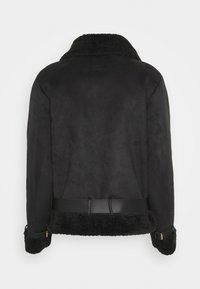 Object - OBJMANDY JACKET - Faux leather jacket - black - 1