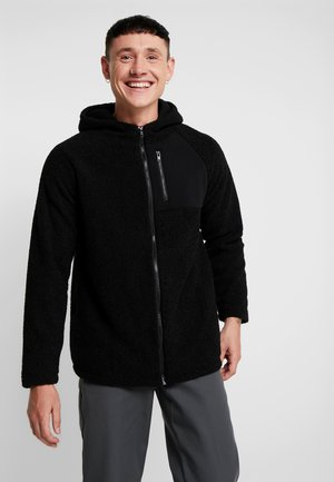 HOODED ZIP JACKET - Fleece jacket - black