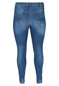 Zizzi - MIT SCHLITZDETAILS - Slim fit jeans - blue - 5