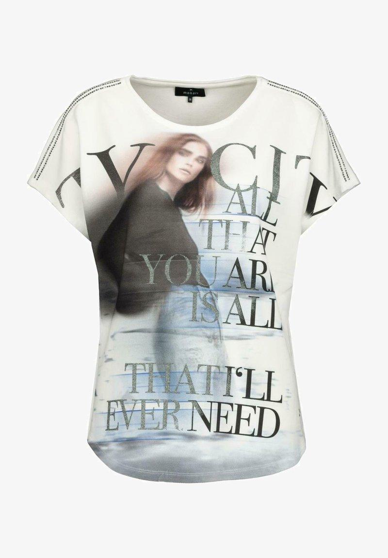 Monari - Print T-shirt - white