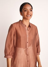 comma - Button-down blouse - burnt sienna - 3