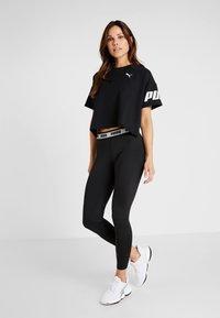 Puma - MODERN SPORT TEE - T-Shirt print - black - 1