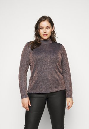 CYBER FUNNEL NECK JUMPER - Svetr - navy/copper