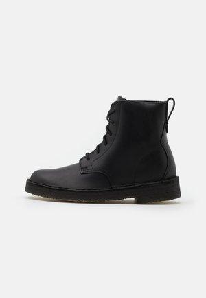 DESERT MALI - Lace-up ankle boots - black polished