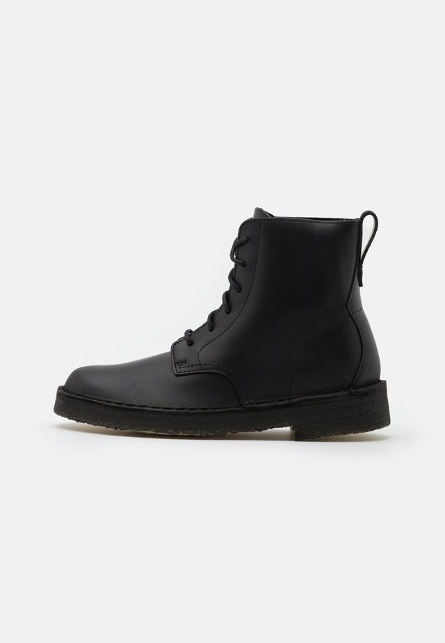 DESERT MALI - Lace-up ankle boots - black polished