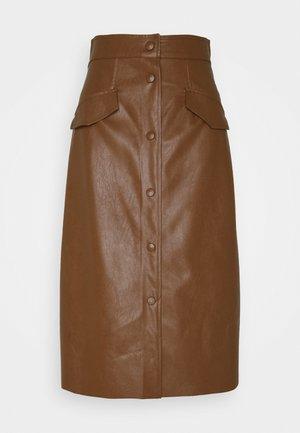 ACQUA - A-line skirt - cuoio
