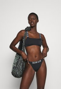 Calvin Klein Swimwear - INTENSE POWER HIGH RISE  - Bikini bottoms - black - 1