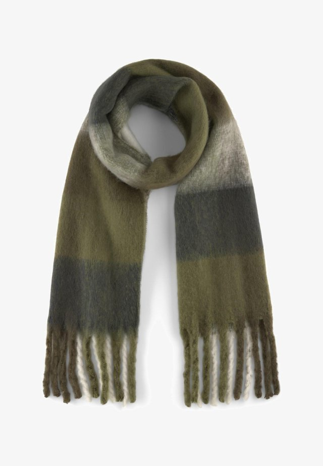 Scarf - olive blue check