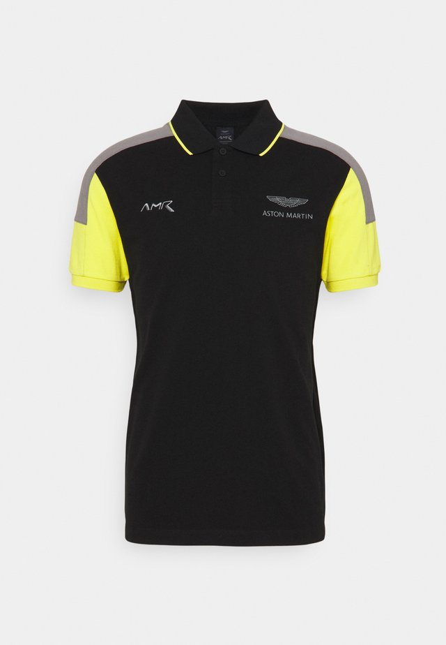 BLOCK PANEL - Poloshirt - black/grey