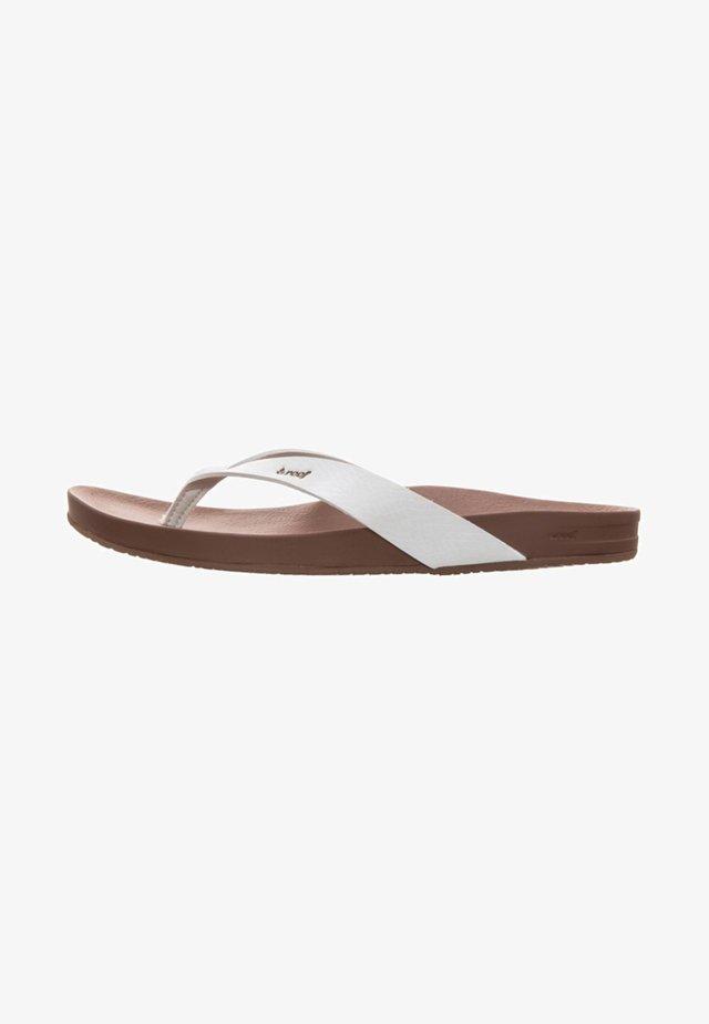 CUSHION BOUNCE COURT  - T-bar sandals - white