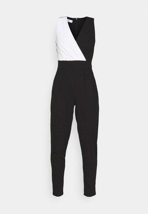 CAROLINE CONTRAST - Overal - black/white