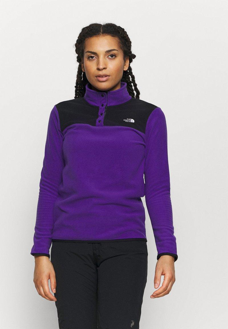 The North Face - GLACIER SNAP NECK - Fleecetrøjer - peak purple/tnf black