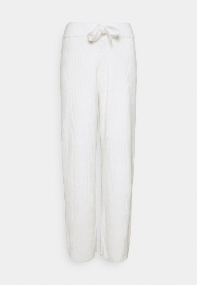 RECYCLED WIDE LEG TROUSER - Trousers - white
