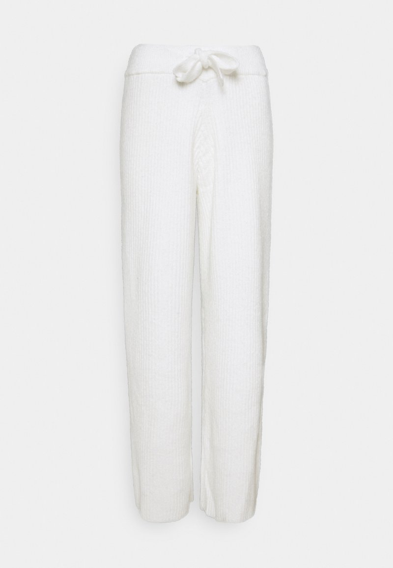 Missguided - RECYCLED WIDE LEG TROUSER - Tygbyxor - white