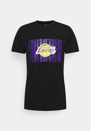 LOS ANGELES LAKERS NBA WORDMARK REPEAT TEE - Squadra - black