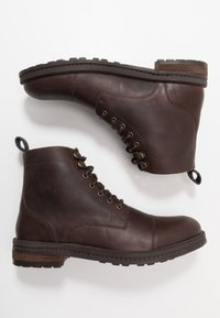 Walk London - WOLF TOE CAP - Lace-up ankle boots - thunder brown - 1