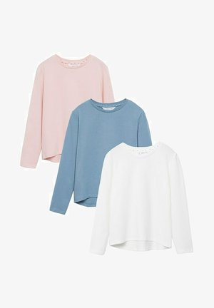 3 PACK  - Long sleeved top - offwhite/blue/pink