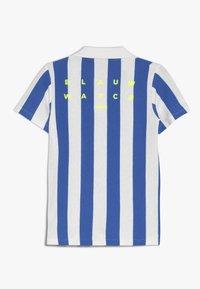 Scotch & Soda - SHORT SLEEVE DYED STRIPES + ARTWORKS - Polo shirt - blue/white - 1