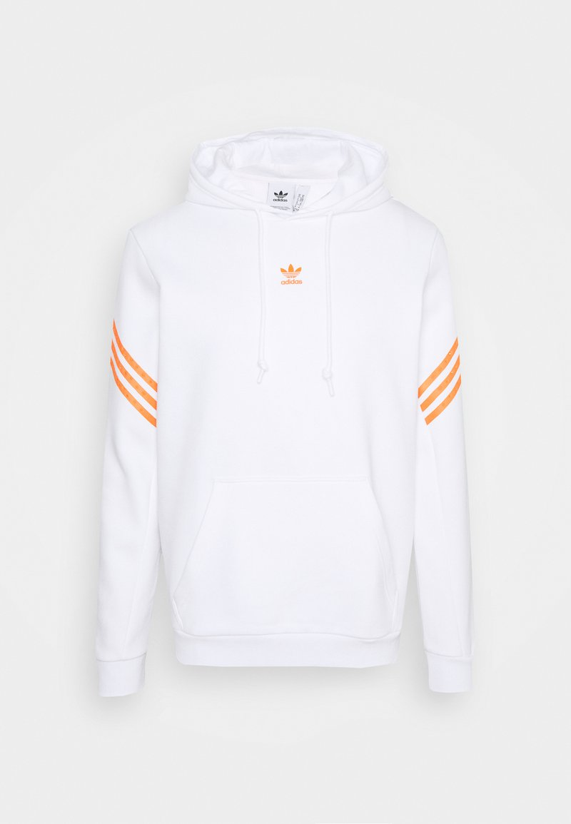 adidas Originals - SWAROVSKI HOODIE UNISEX - Sweat à capuche - white/trace orange
