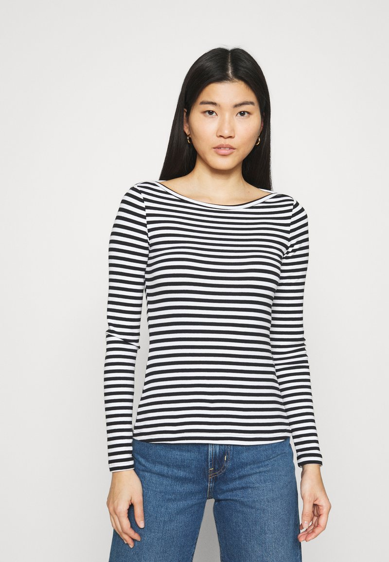 Zign - Langærmede T-shirts - black/white