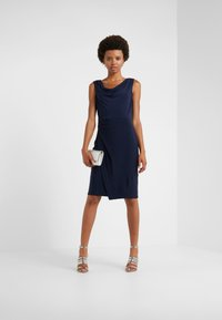 DKNY - SHEATH WITH RUCHING - Shift dress - midnight - 1