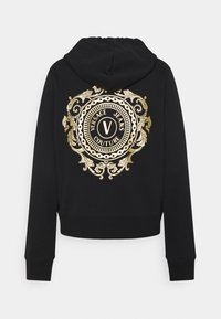 Versace Jeans Couture - CARRY OVER ZIP UP HOODIE METAL CHAIN - Mikina s kapucí - black - 1
