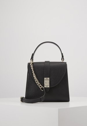 NEREA TOP HANDLE FLAP - Handbag - black