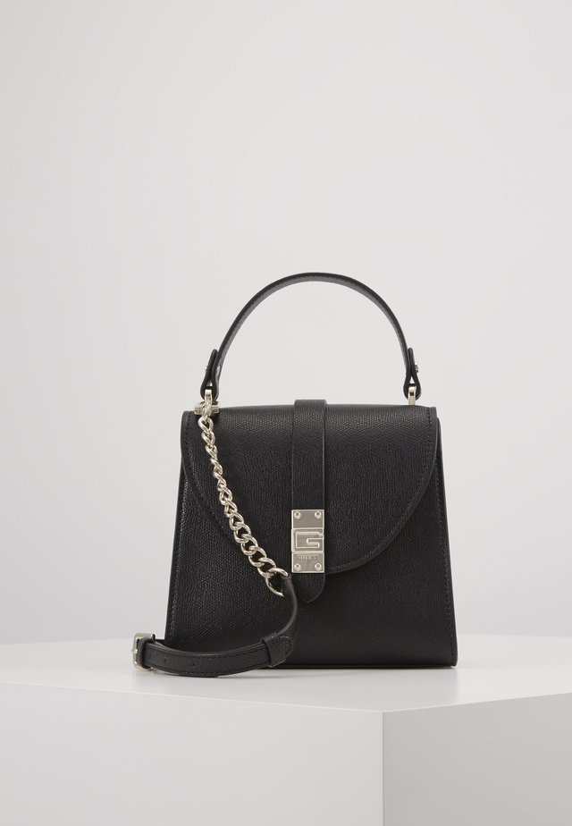 NEREA TOP HANDLE FLAP - Handbag - black