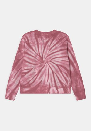 TIE DYE CREW NECK JUMPER - Sweatshirt - very berry
