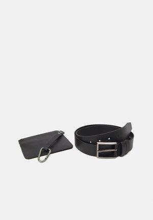 LEATHER SET - Wallet - black