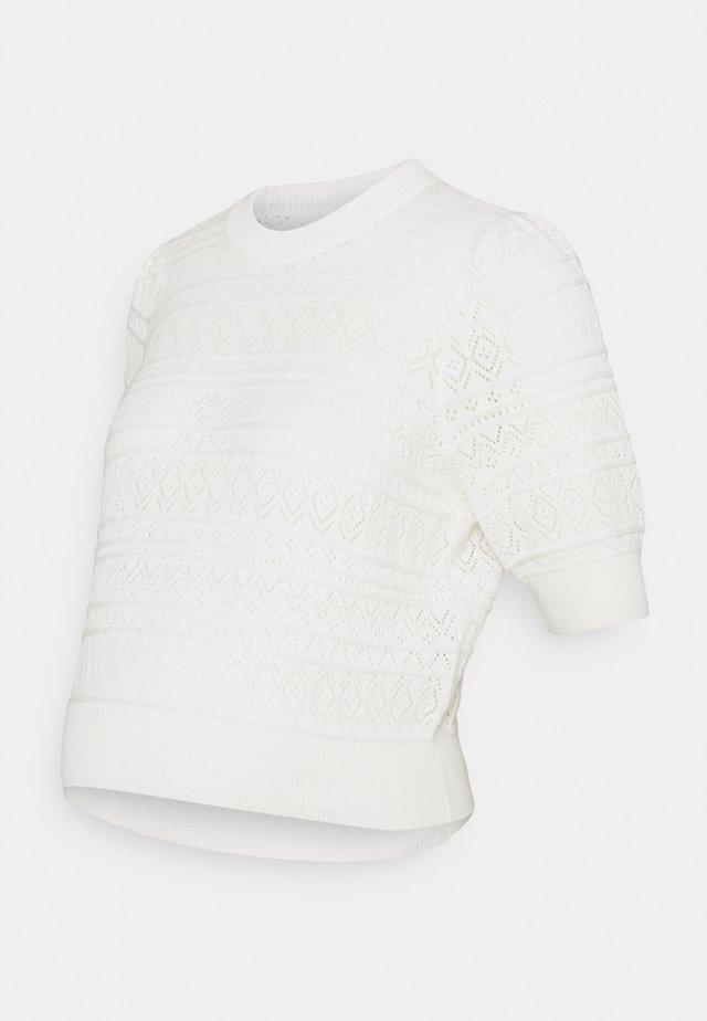 PCMLEYA O-NECK - T-shirt con stampa - cloud dancer