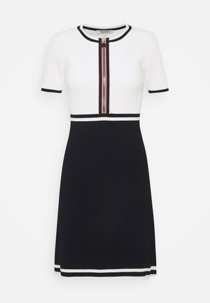 Vestido de punto - marine/offwhite