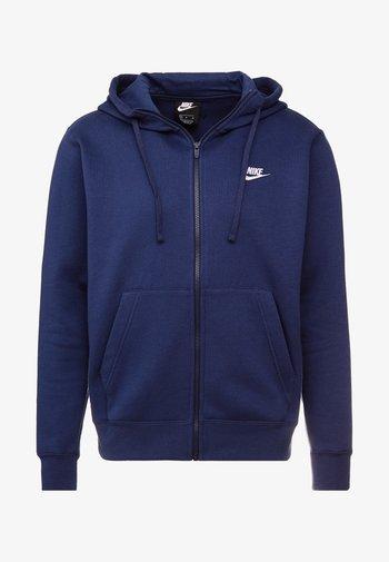 CLUB HOODIE - Zip-up sweatshirt - midnight navy/white