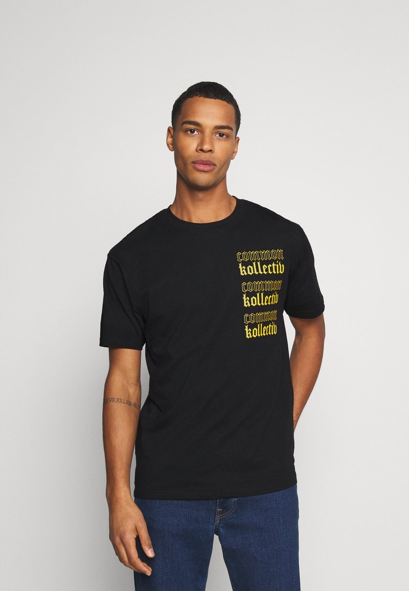 Common Kollectiv - GOTHIC TEE UNISEX - T-shirt imprimé - black