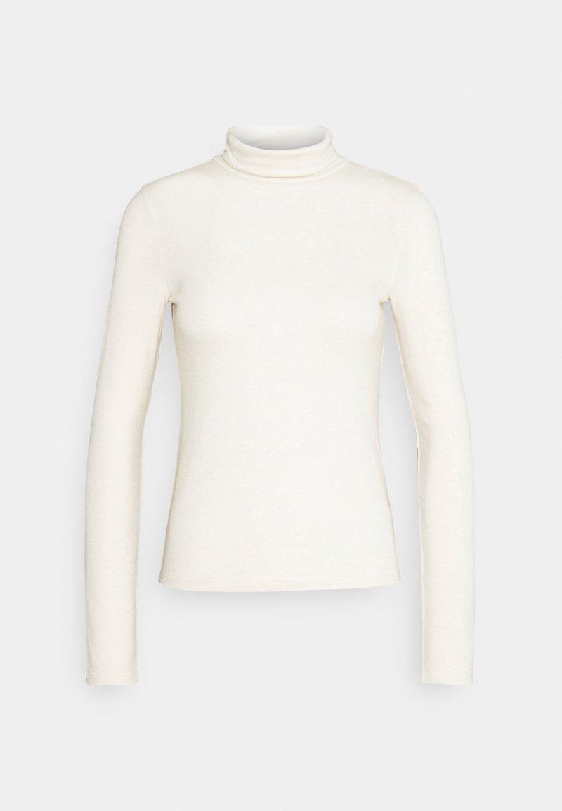 Gina Tricot - GIANNA POLO - Pitkähihainen paita - warm white