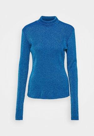 Bluzka z długim rękawem - lurex blue