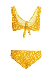WE Fashion - MET STIPPENDESSIN EN STRUCTUUR - Bikini - mustard yellow